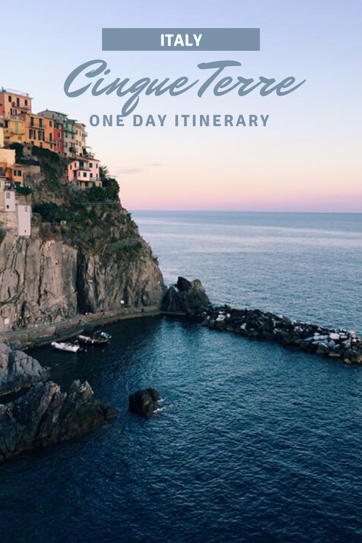 One Day Cinque Terre Itinerary Sunset Pin