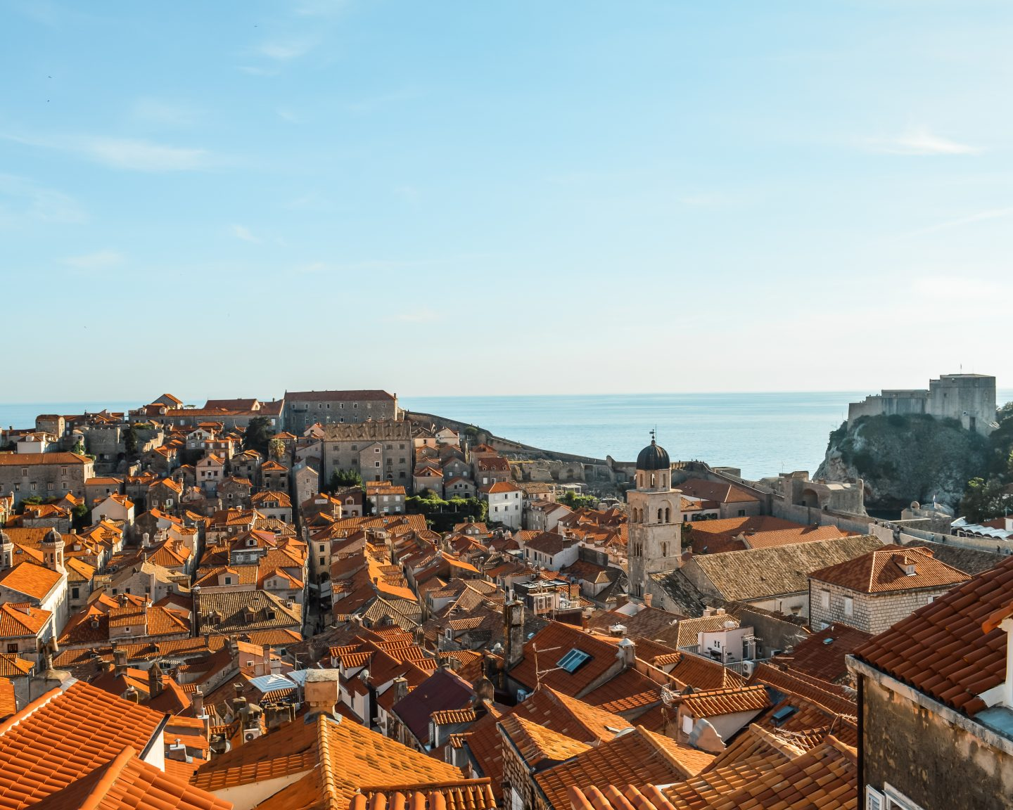 views of dubrovnik from above