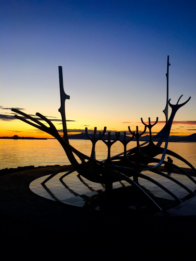Iceland Road Trip - Sun Voyager at Sunset