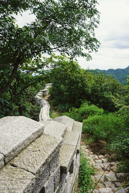 Following the trail in Bukhansan National Park, Seoul, South Korea