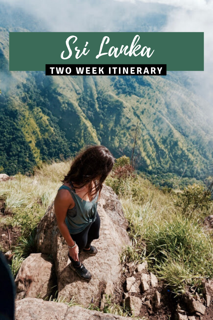 Sri Lanka 2 Week Itinerary pin