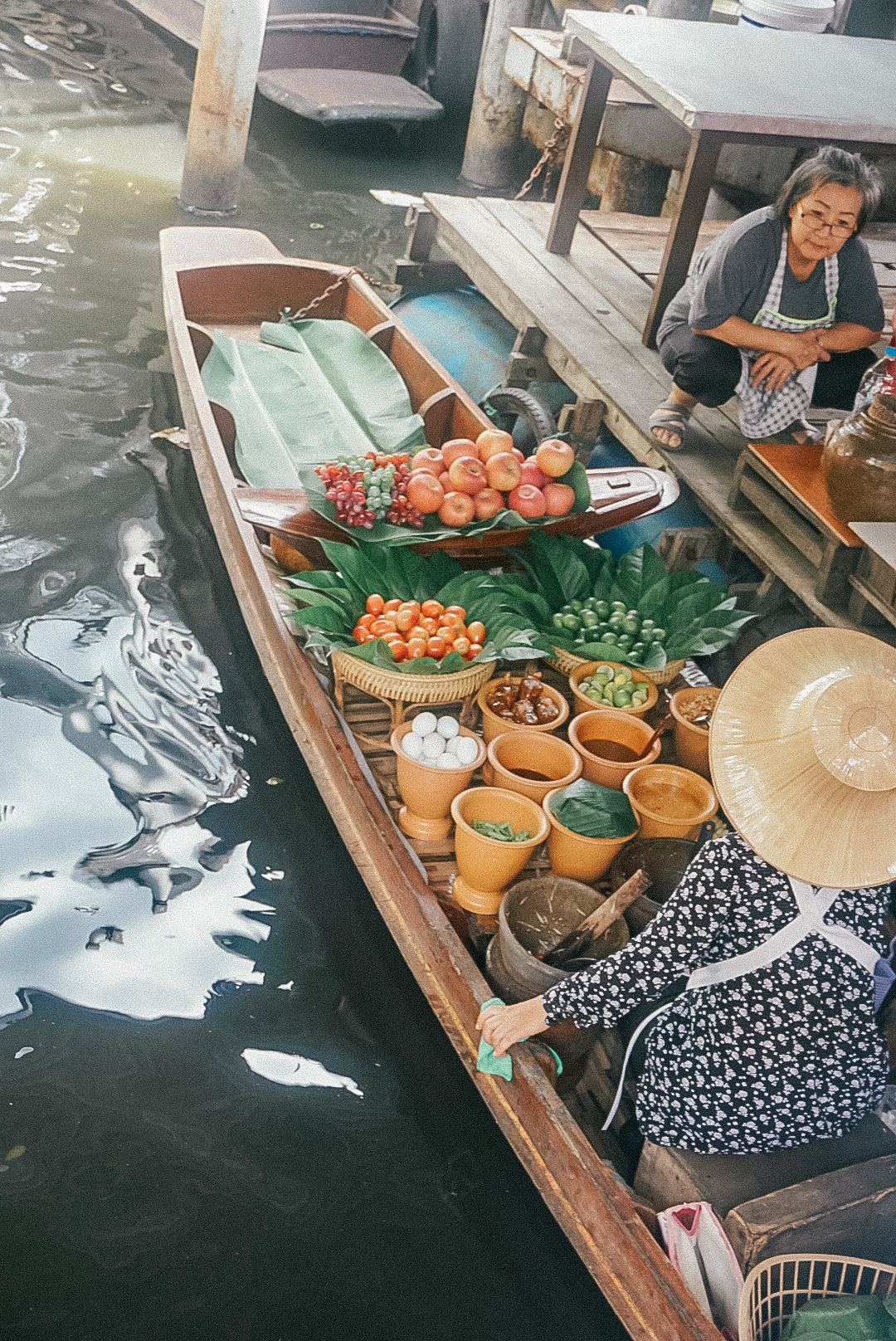 Visiting Talin Chang Floating Market, 48 hours in Bangkok