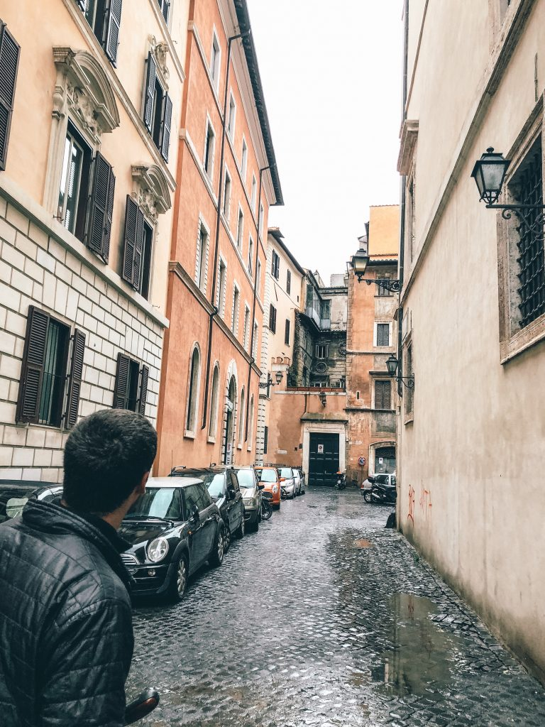 Cobble stone streets in Rome, Italy