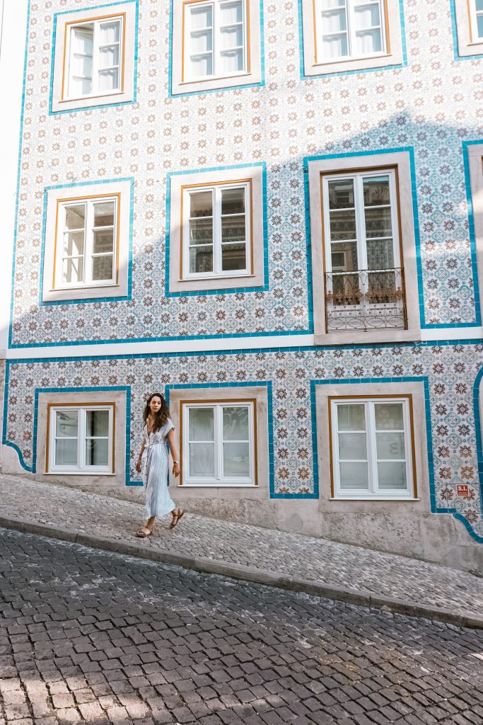 Beautiful buildings in Graca, Lisbon