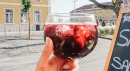 Drinking a cold sangria is one of Lisbon's best activities!
