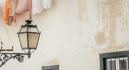 Laundry hanging in one of Lisbon's cutest neighborhoods - Alfama