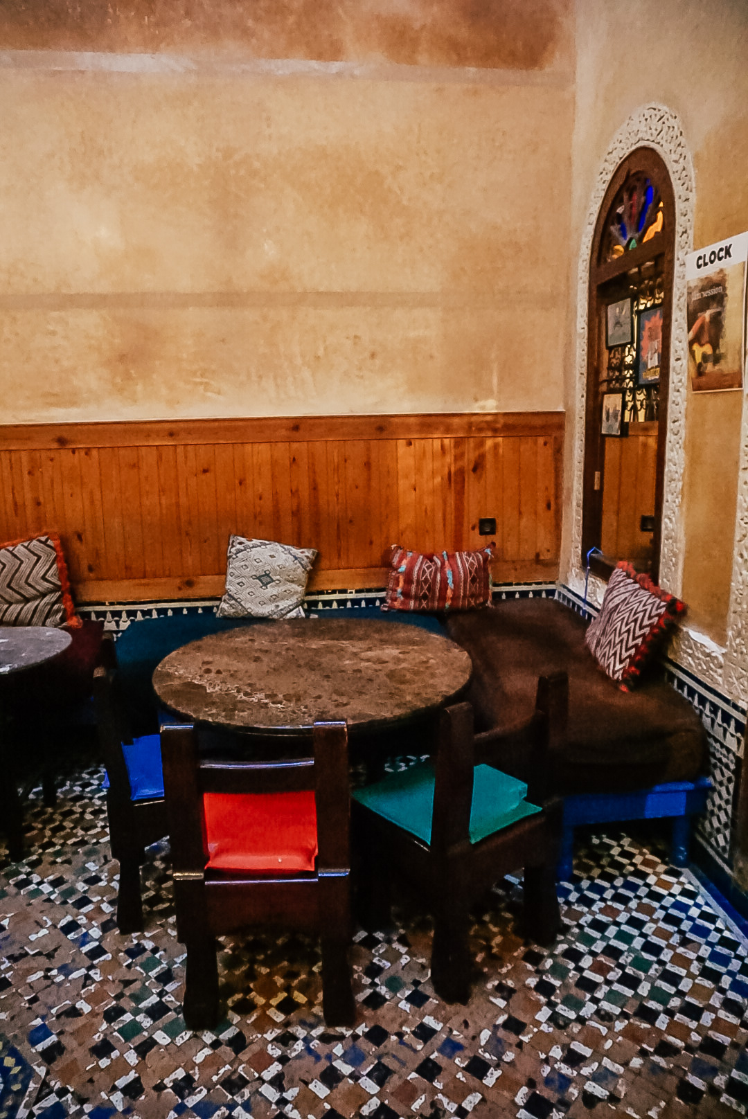 Fes, Morocco what to do - dining at Cafe Clock