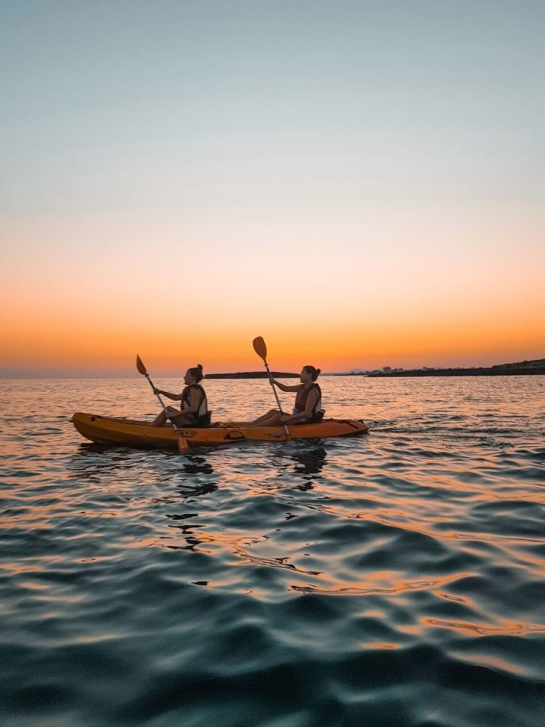 Sunset kayaking in Mallorca, Spain - IN Adventures