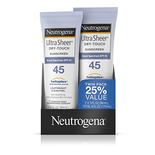 Best Travel Accessories: Neutrogena 45 SPF Sunscreen