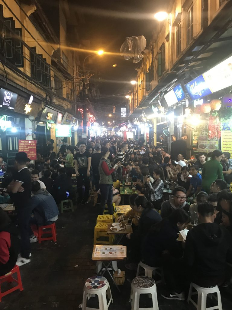 24 Hours in Hanoi - Old Quarter - Locals and Tourists Eating on the Street