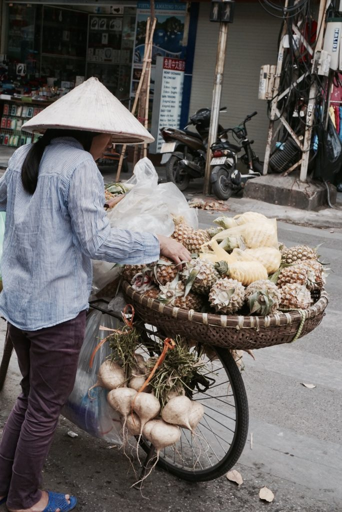 24 Hours in Hanoi - Old Quarter - Woman Selling Pineapples
