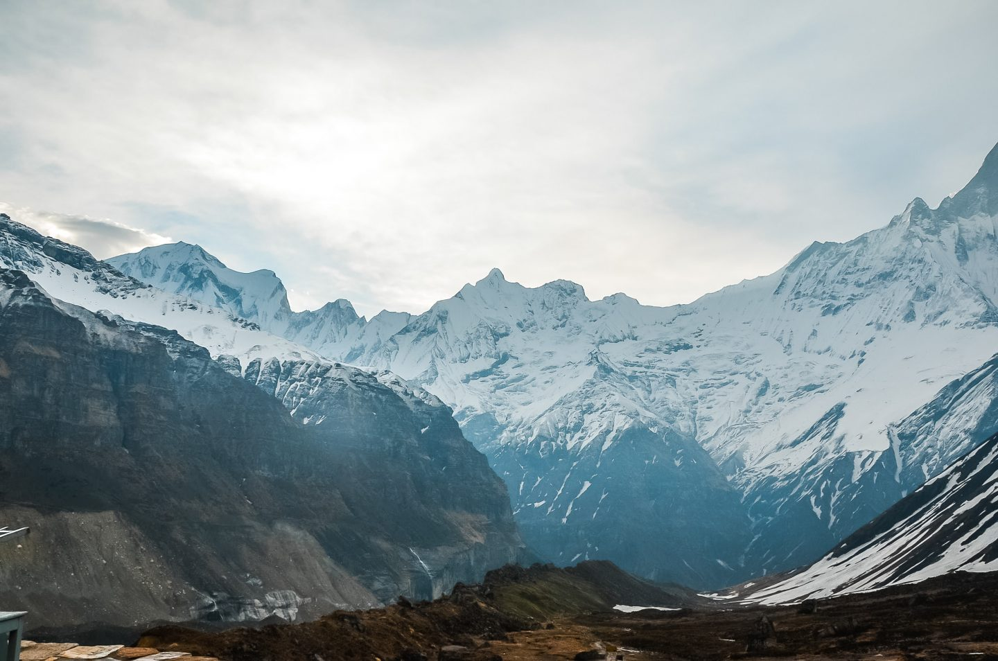 annapurna base camp trek at sunrise