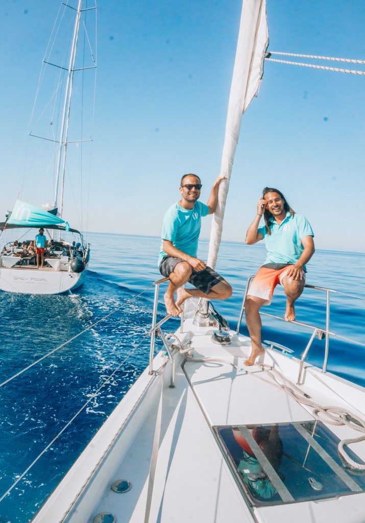 Sailing in Mallorca with In Adventures crew