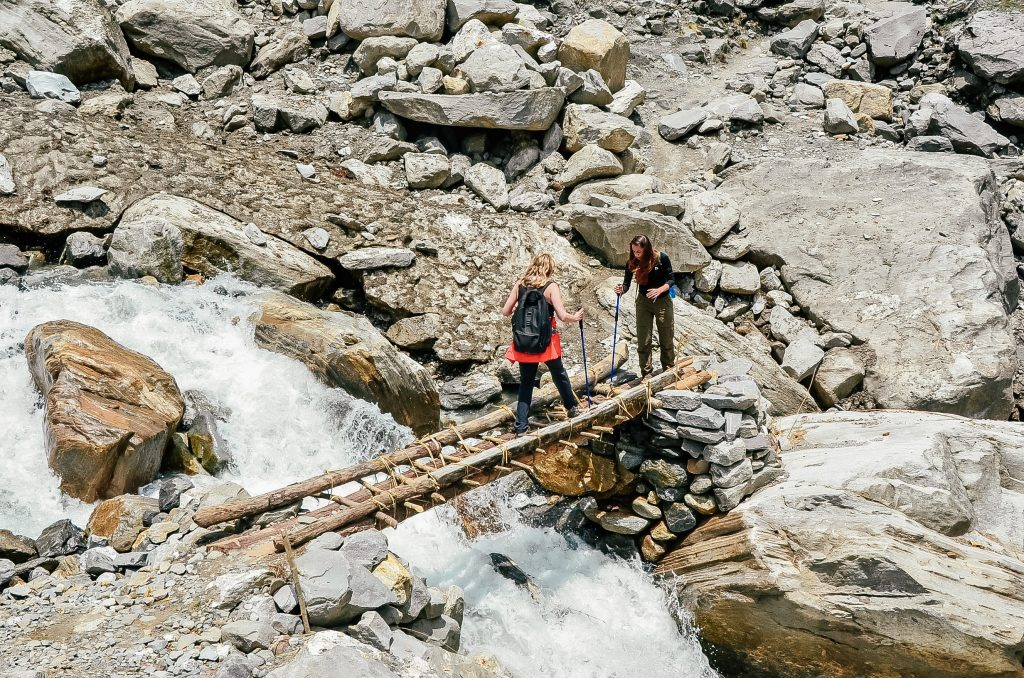 Hiking to Annapurna Base Camp Trek - Nepal - Bridge over Water