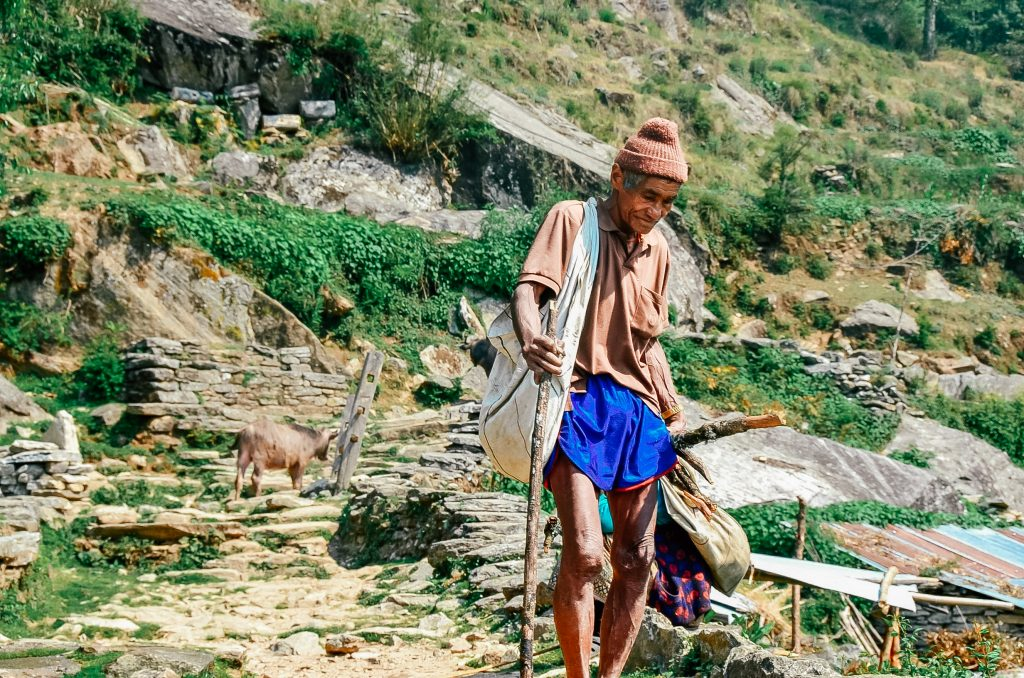 Hiking to Annapurna Base Camp Trek - Nepal - Local Man