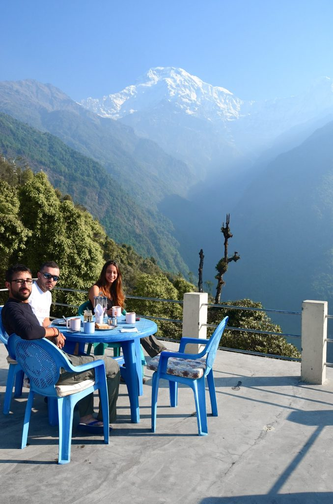 Hiking to Annapurna Base Camp Trek - Nepal - Breakfast in the Mountains