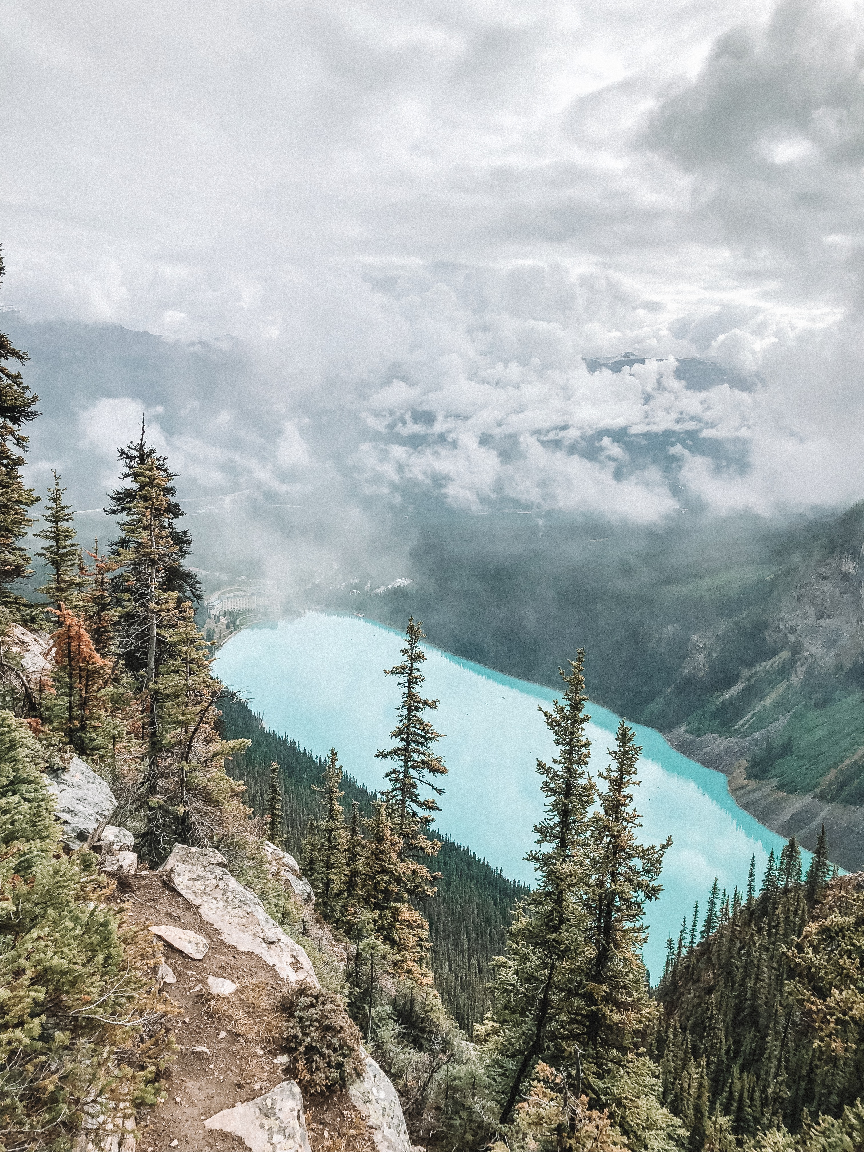 Lake Louise - View from the Big Bee Hive Hike