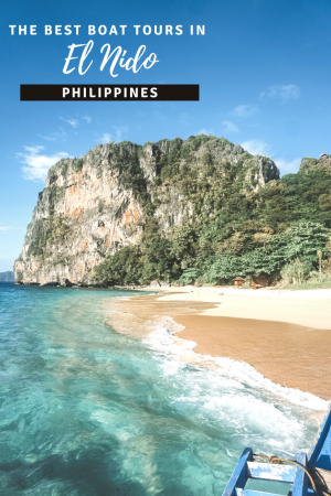 Island Hopping in El Nido, Philippines pin