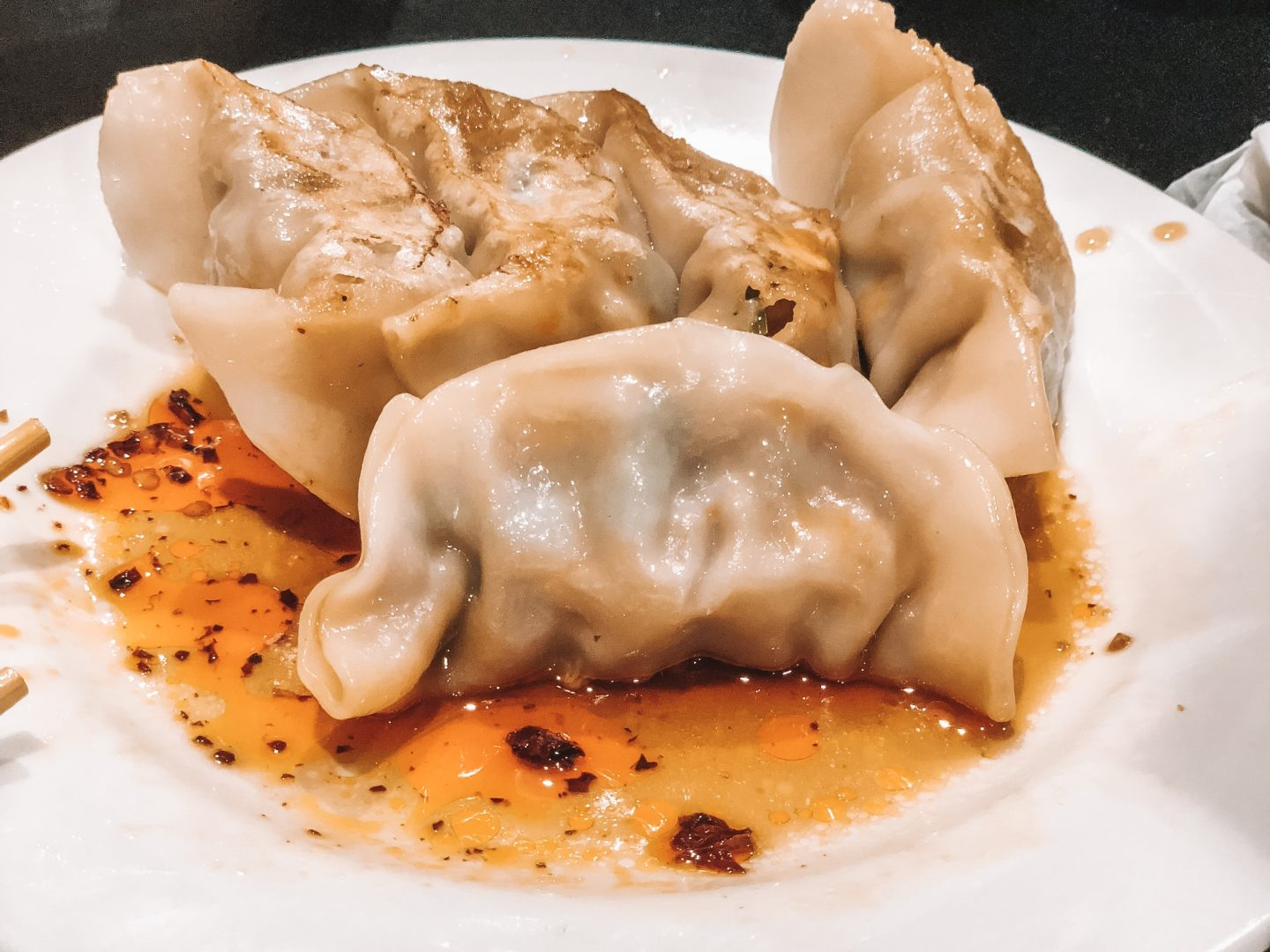 Plate of dumplings from Chinatown, NY