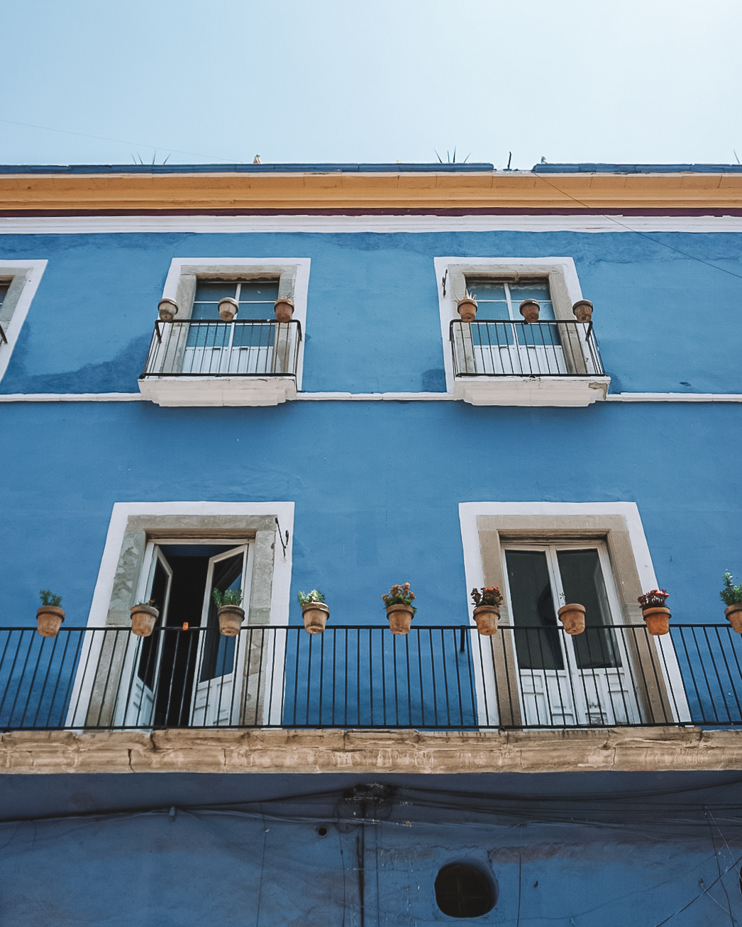 Blue house in Guanajuato City, Mexico