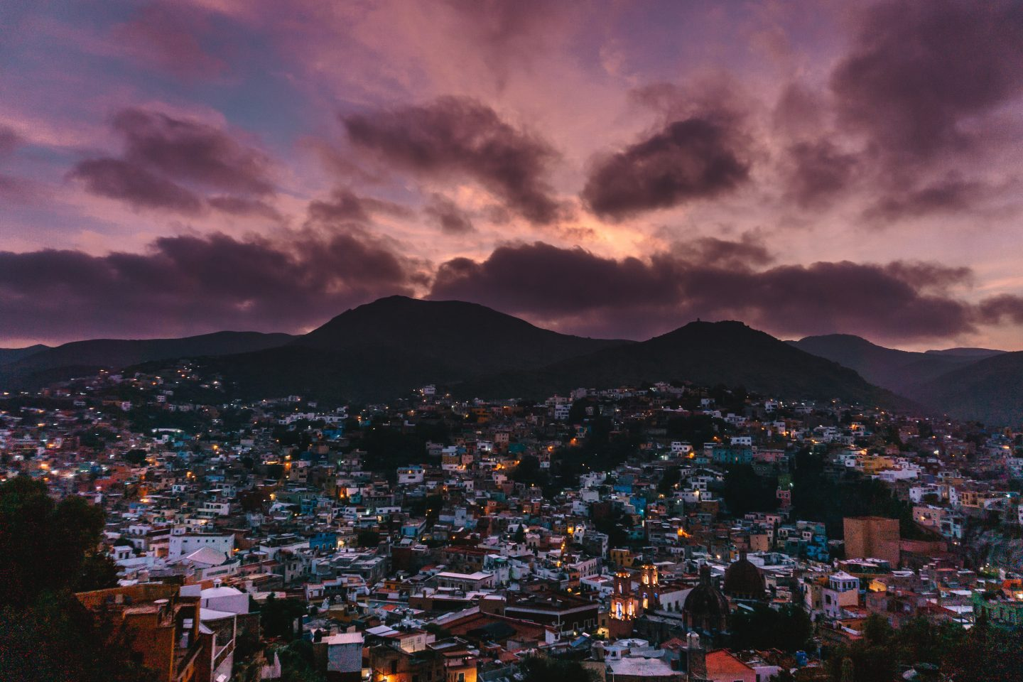 Sunrise over Guanajuato City, Mexico