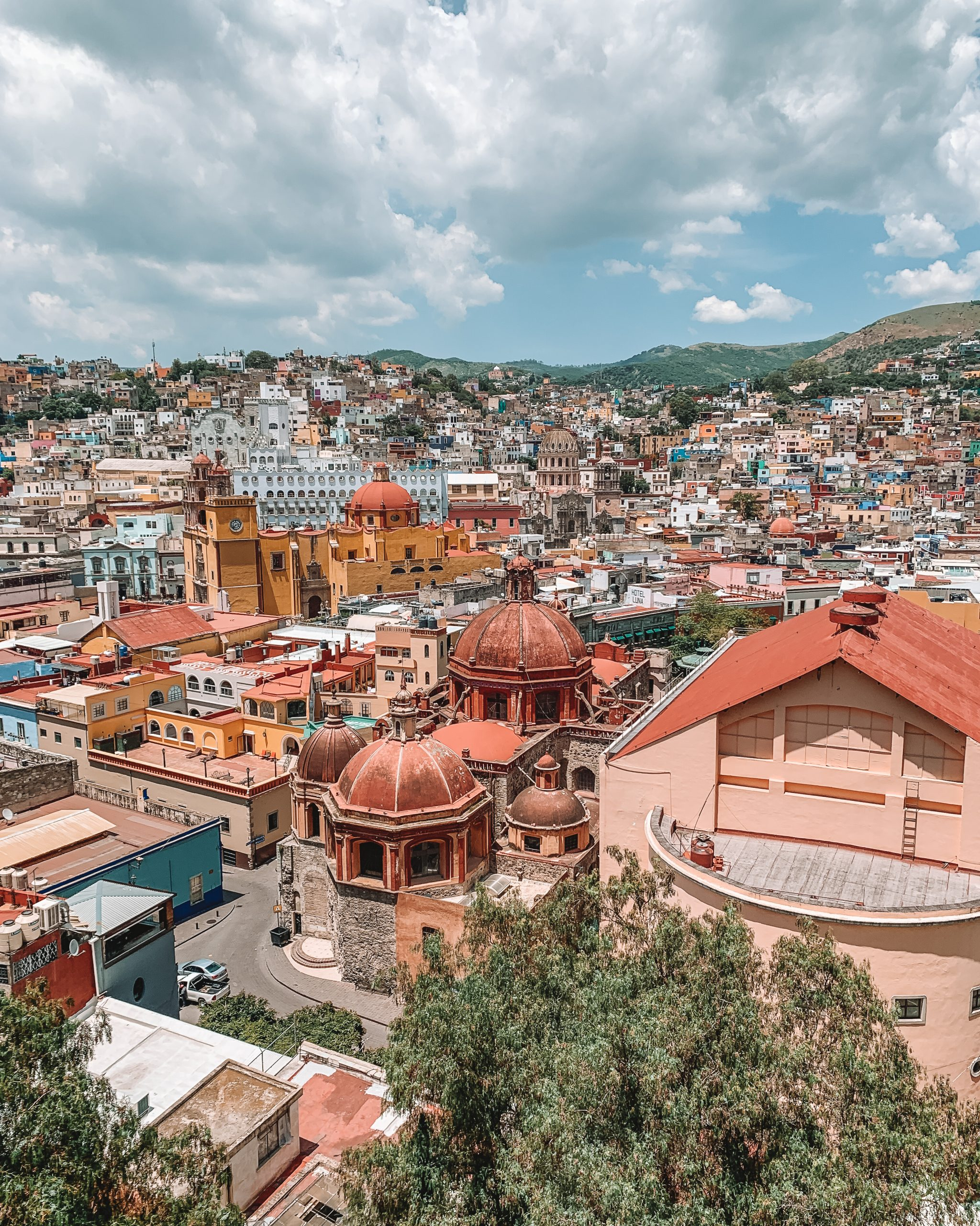 View from the funicular in Guanajuato