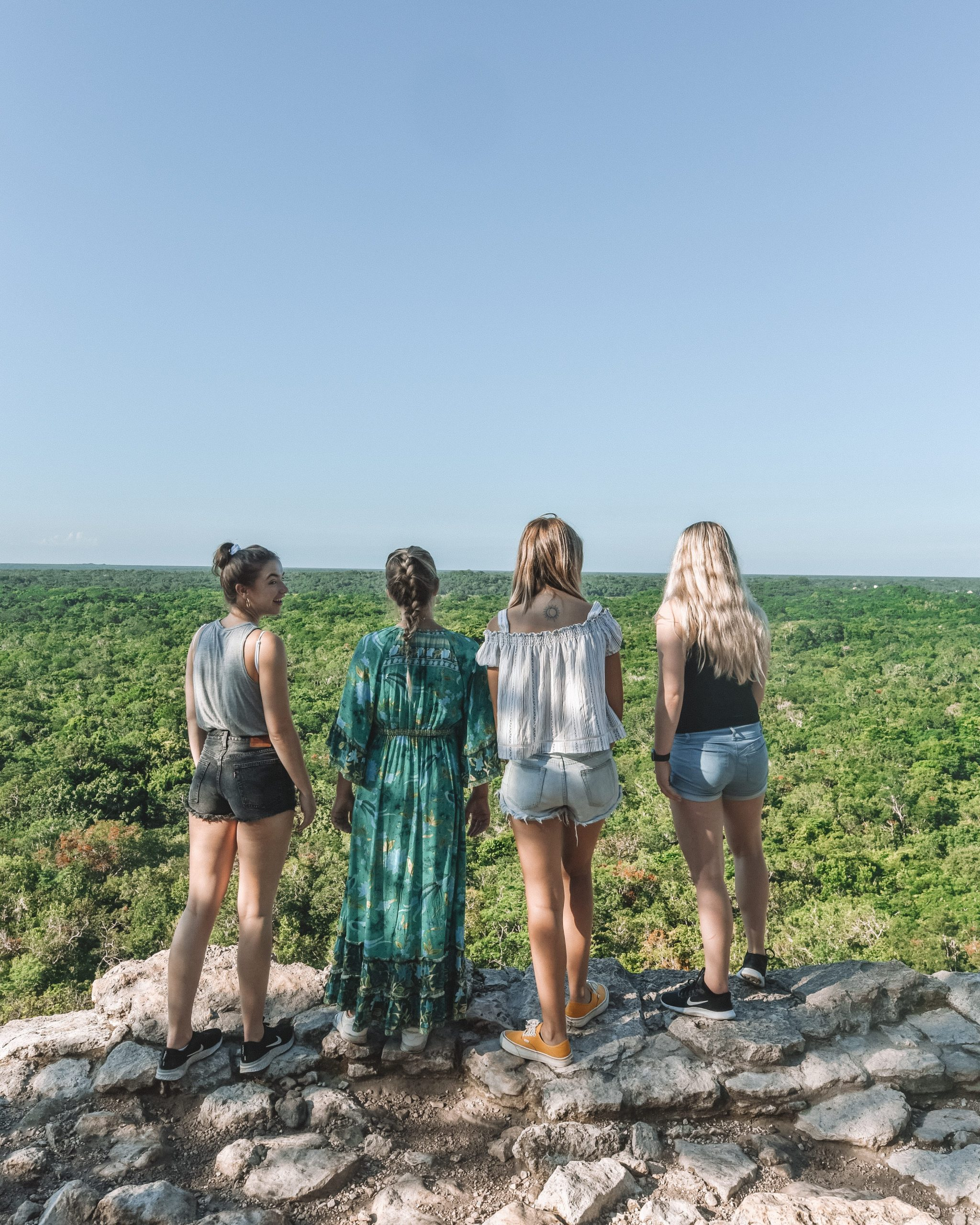 Group of girls at Coba