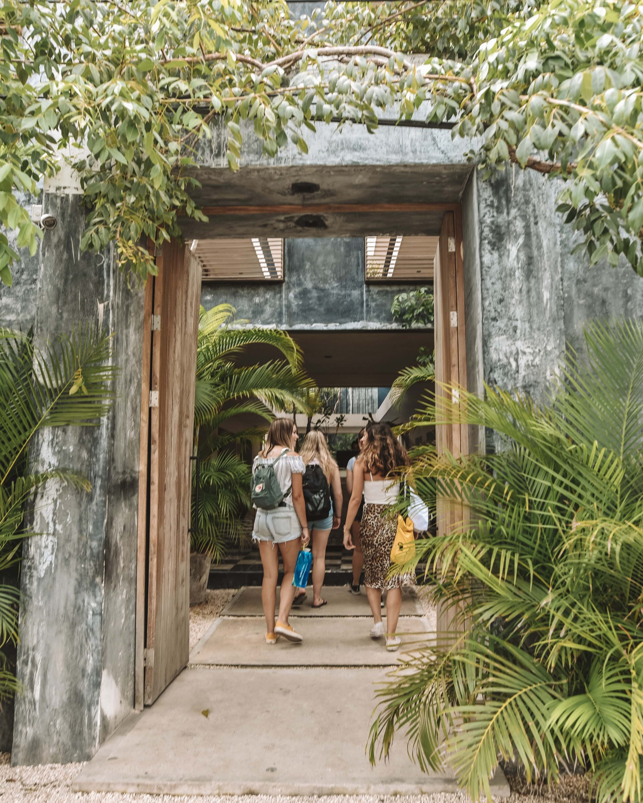Group of girls in Tulum, Mexico