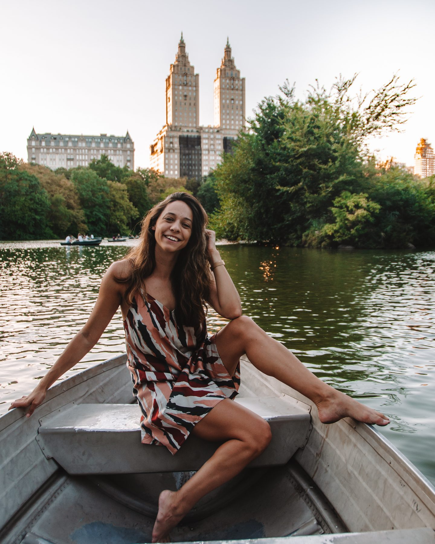 Girl in boat at Central Park - A guide to NYC 4 days