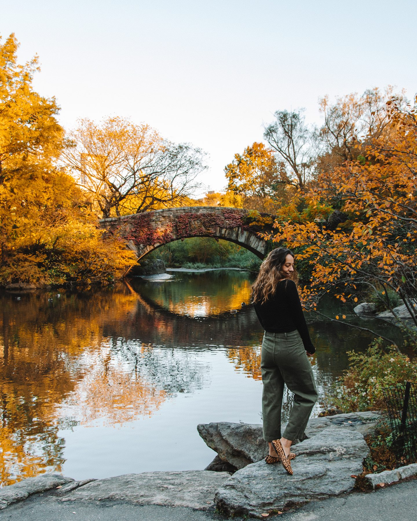 visiting central park during fall