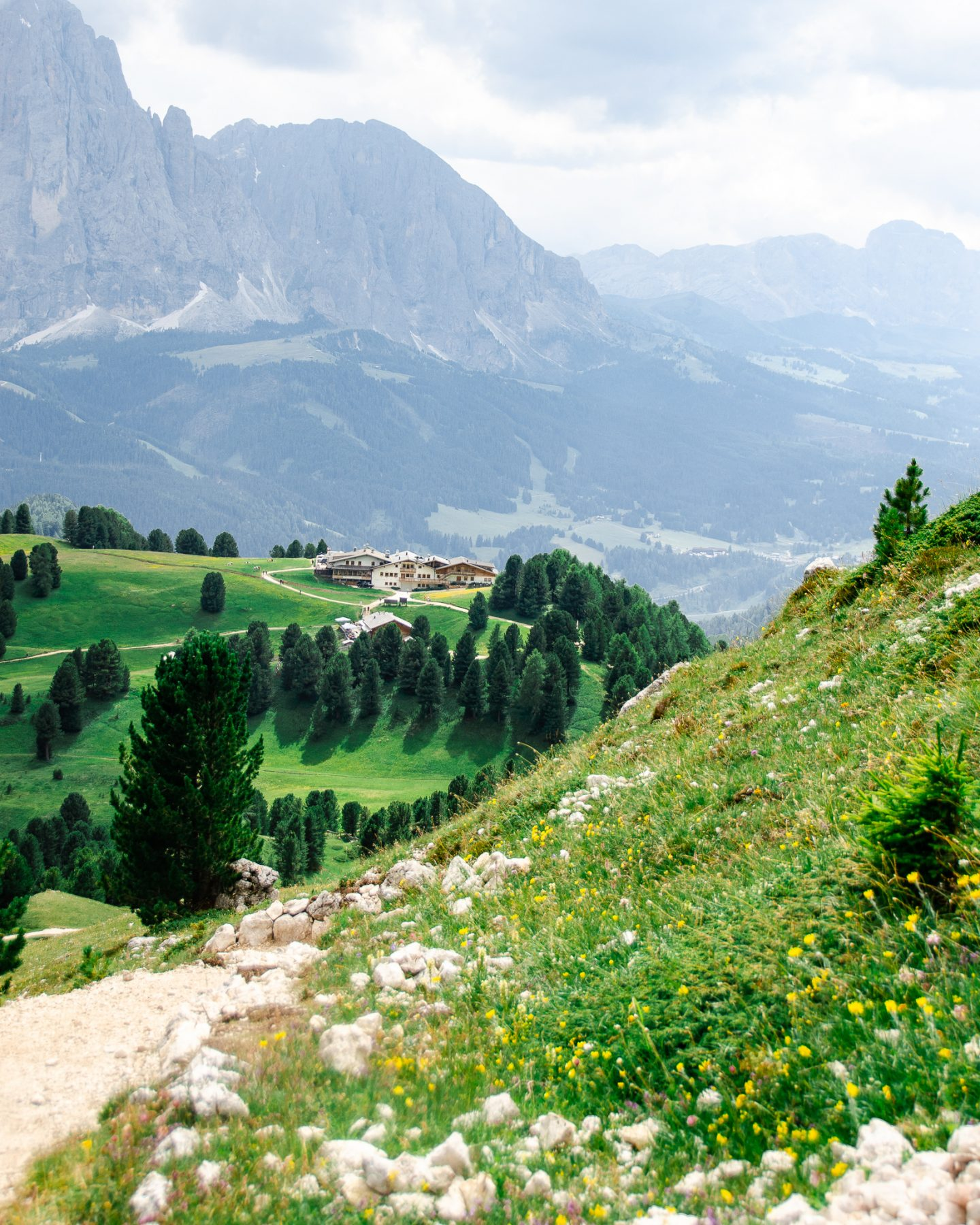 views from seceda dolomites