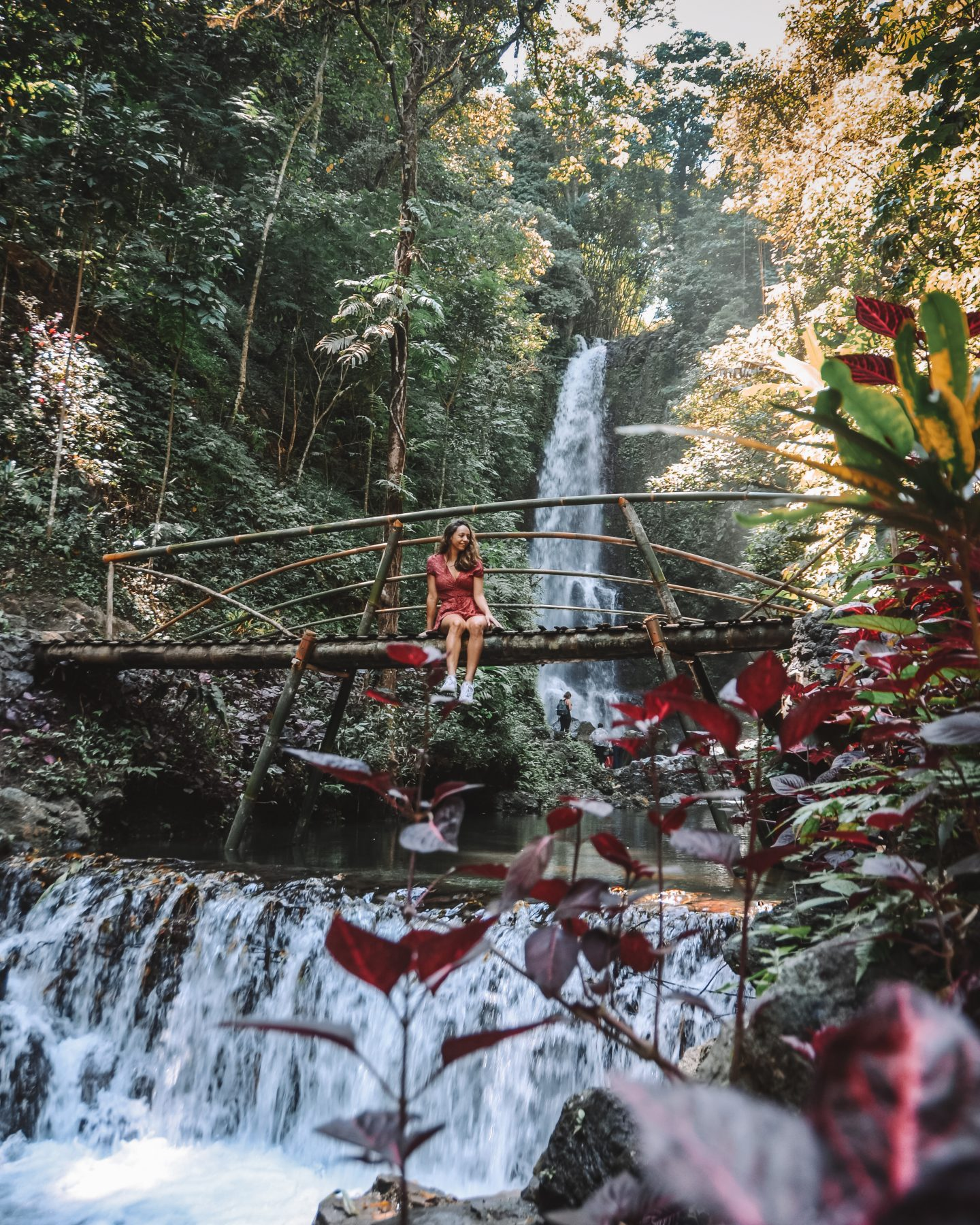 visiting bali as a solo travel, exploring the waterfalls of munduk