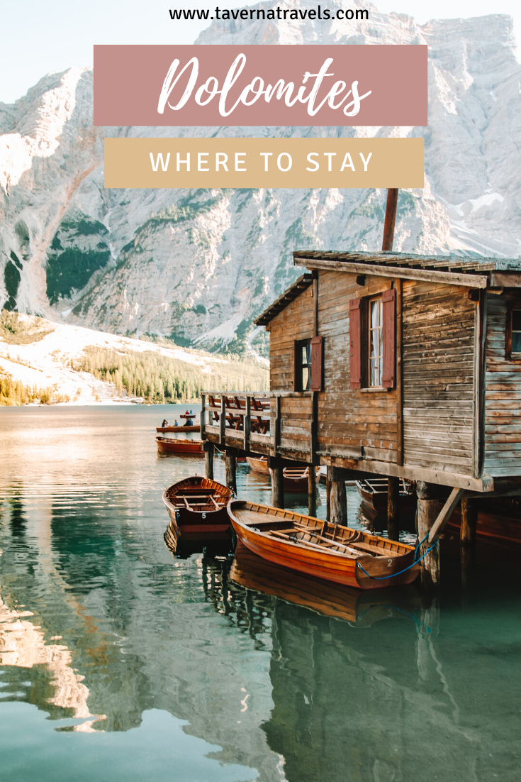 Where to Stay in the Dolomites Pin