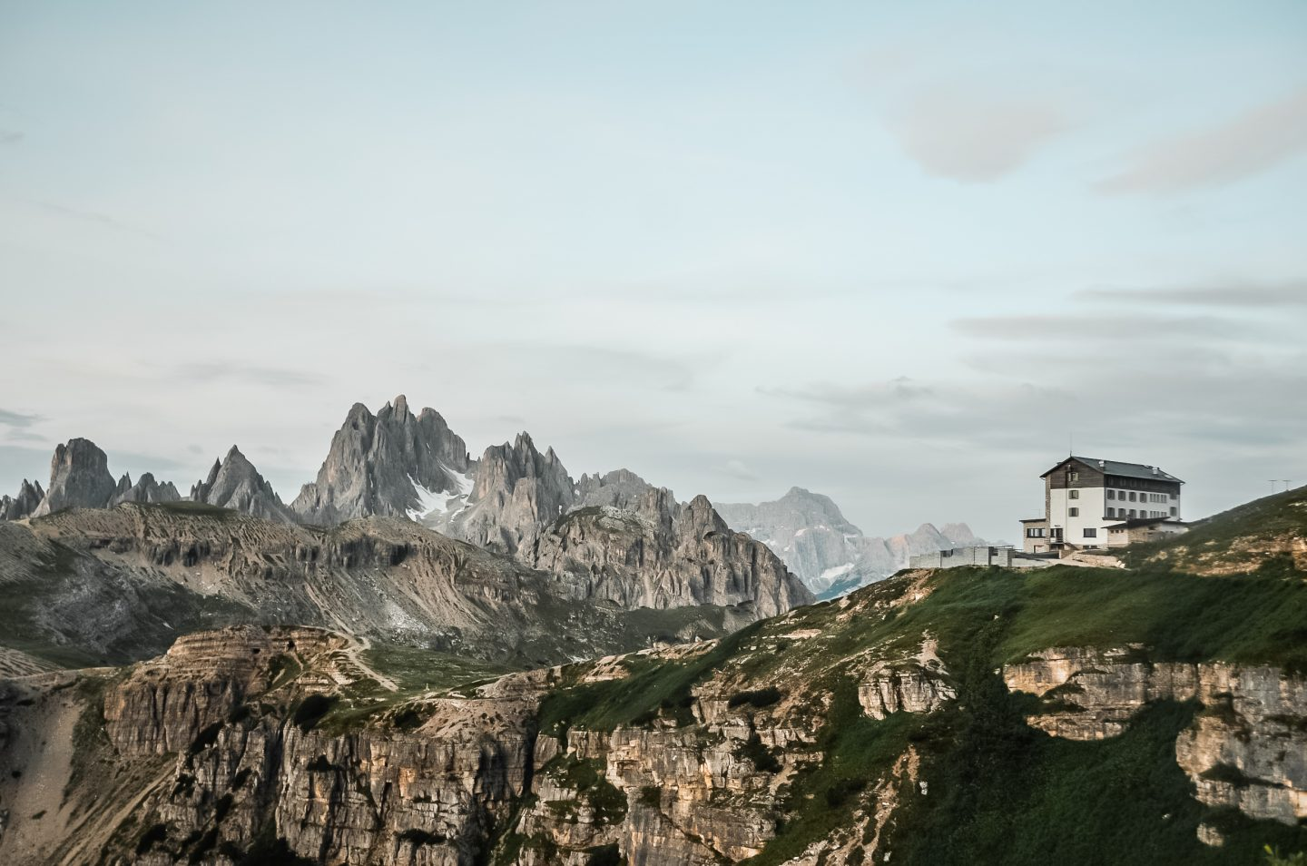 A guide on how to get to the Dolomites in Italy. Sunrise on Tre Cime de Lavaredo hike.