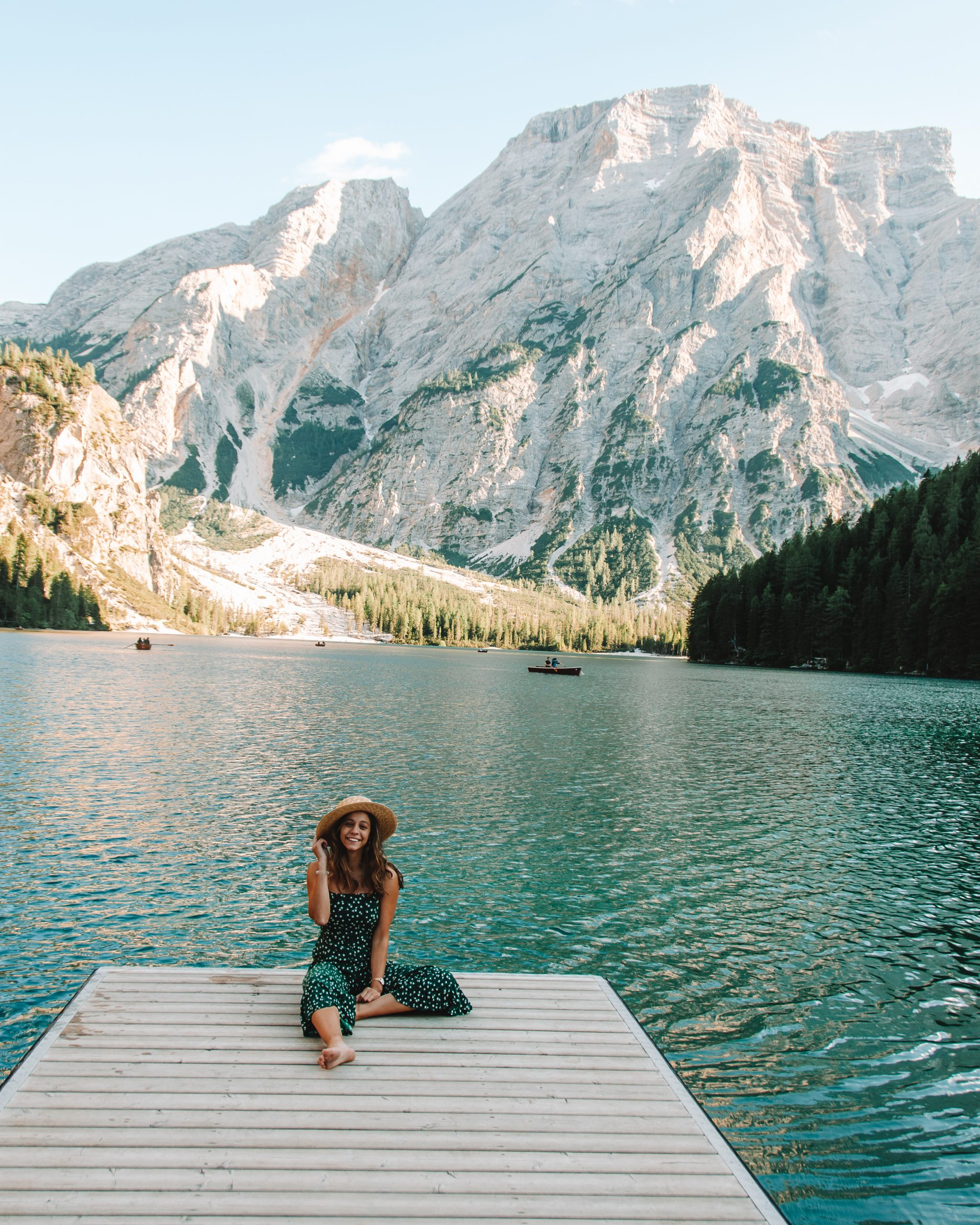 Girl at Lago di Braies, Italy