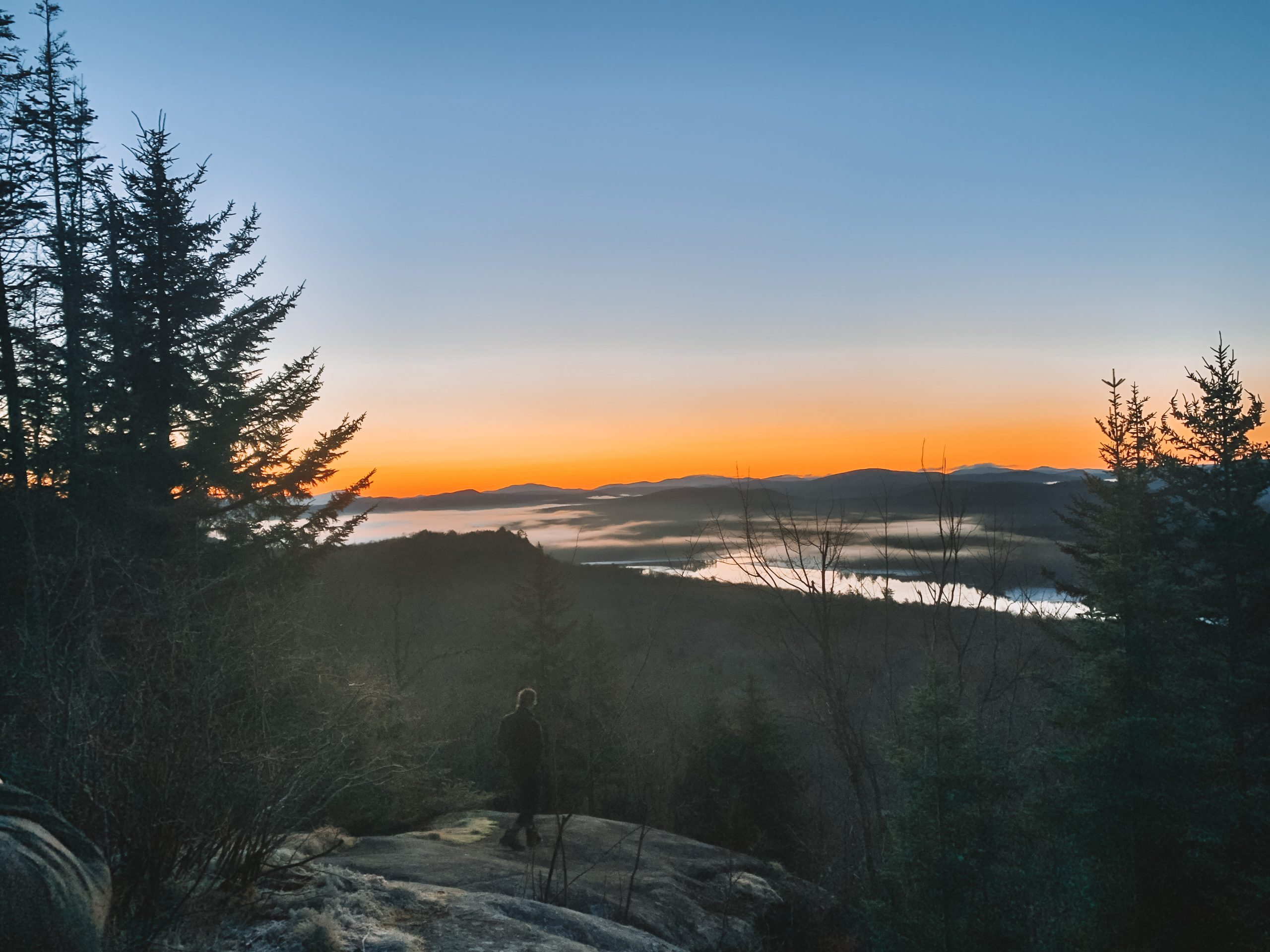 sunrise hike to bald mt near old forge new york - hikes in upstate new york