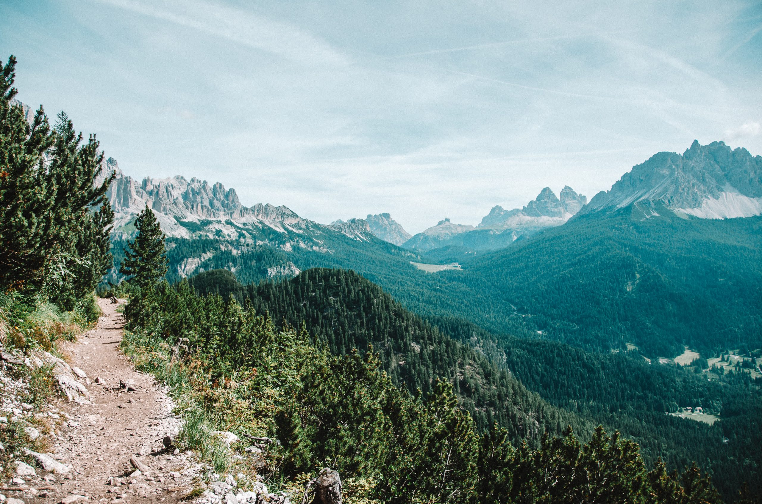 mountain views in the dolomites