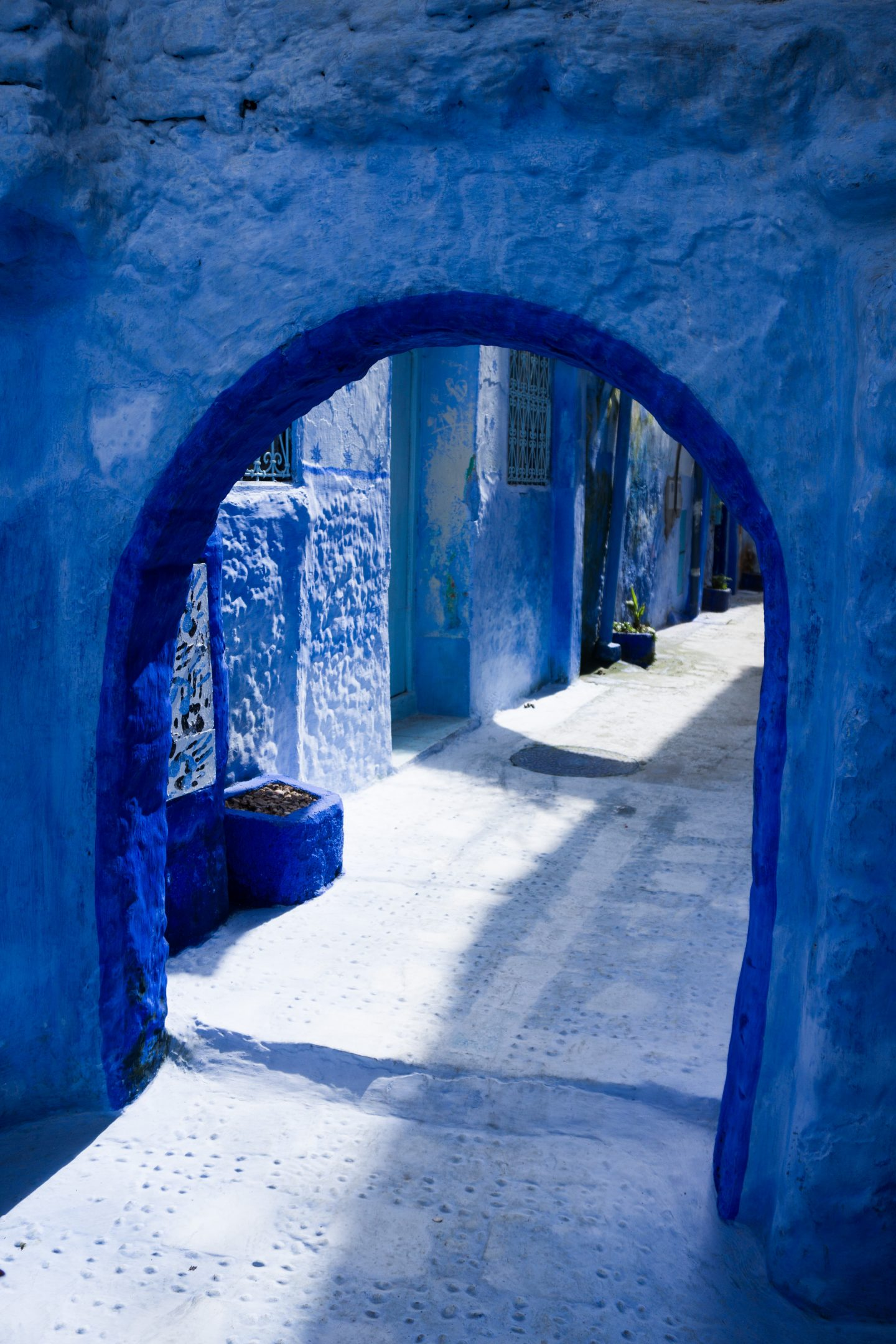 blue archway in morocco's chefchaouen