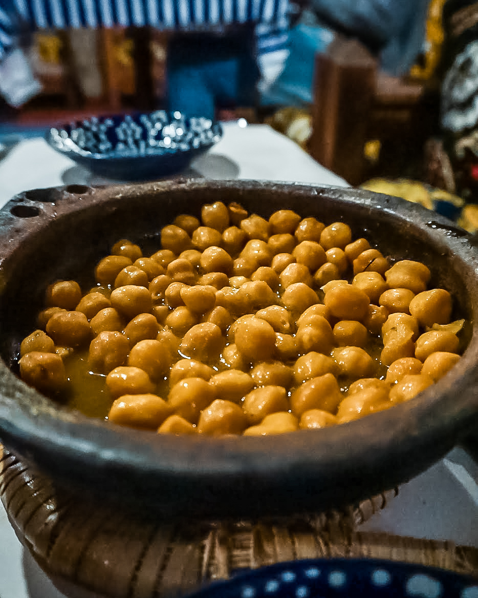 chickpeas at bab ssour chefchaouen - morocco itinerary