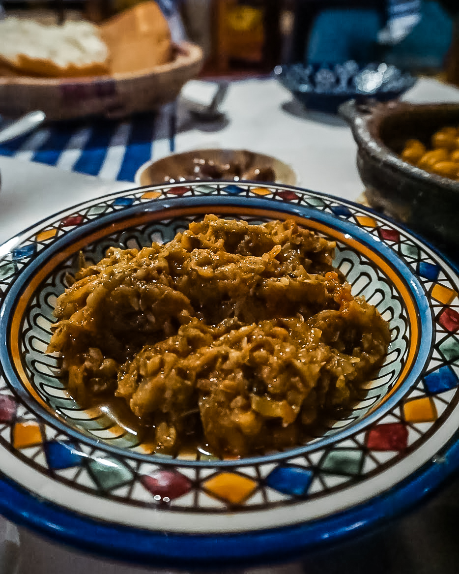 lentils at bab ssour chefchaouen - morocco itinerary