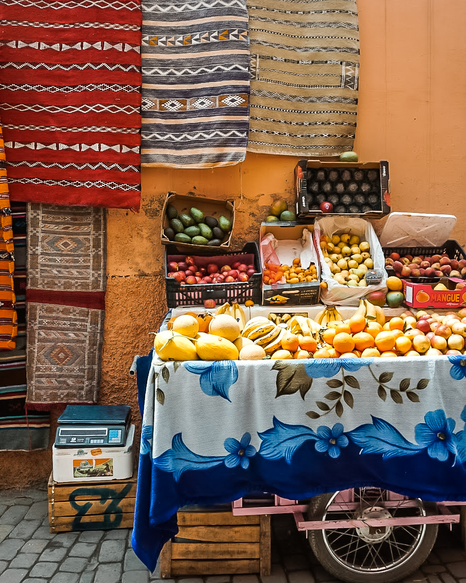 rugs and food in marrakech morocco