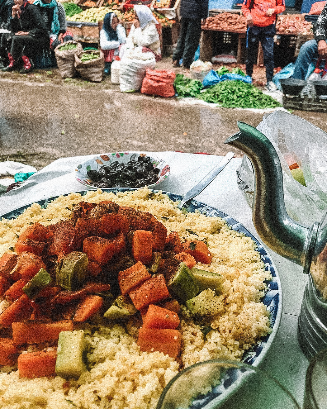 cous cous in local market