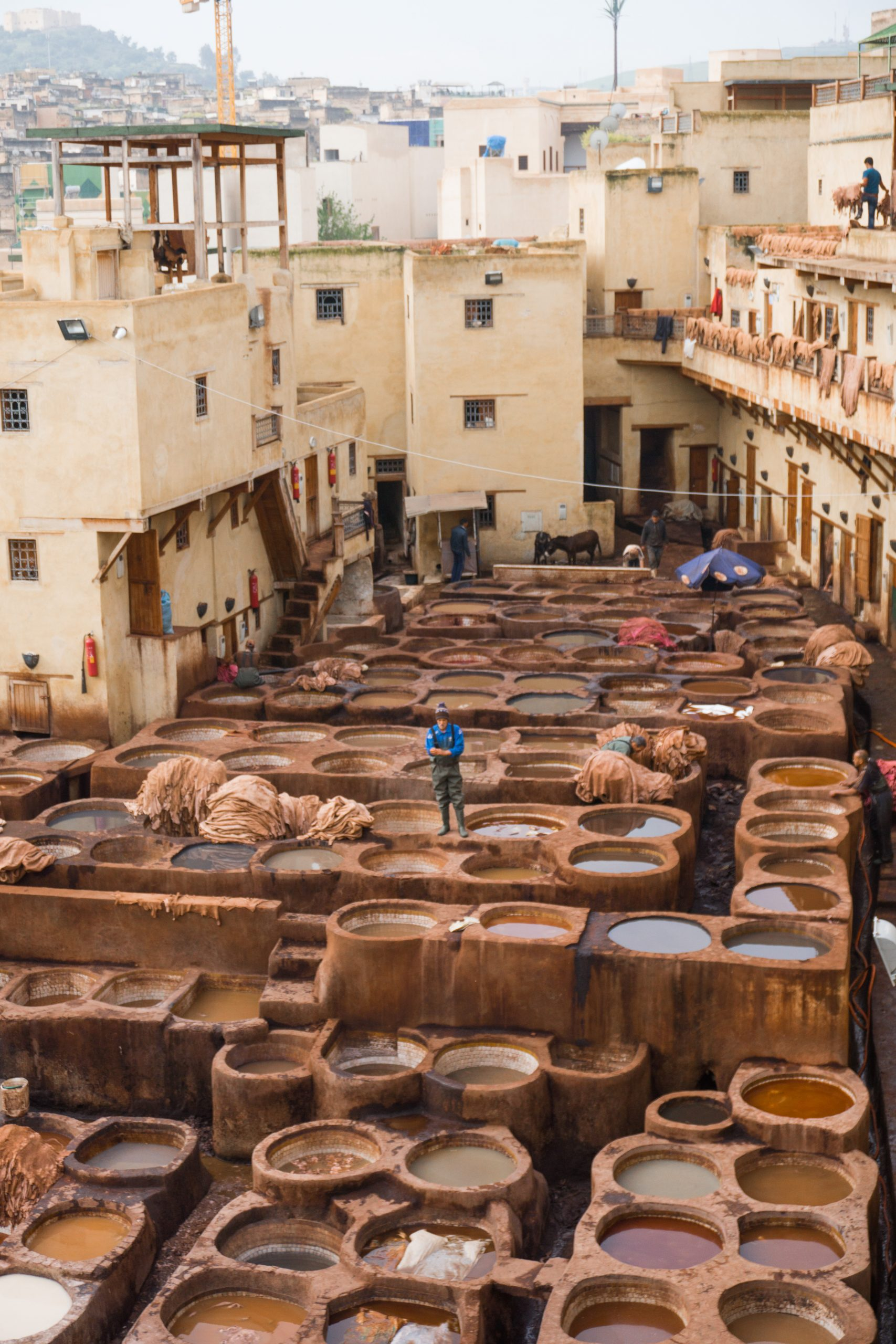 tanneries from above - best things to do in morocco fes