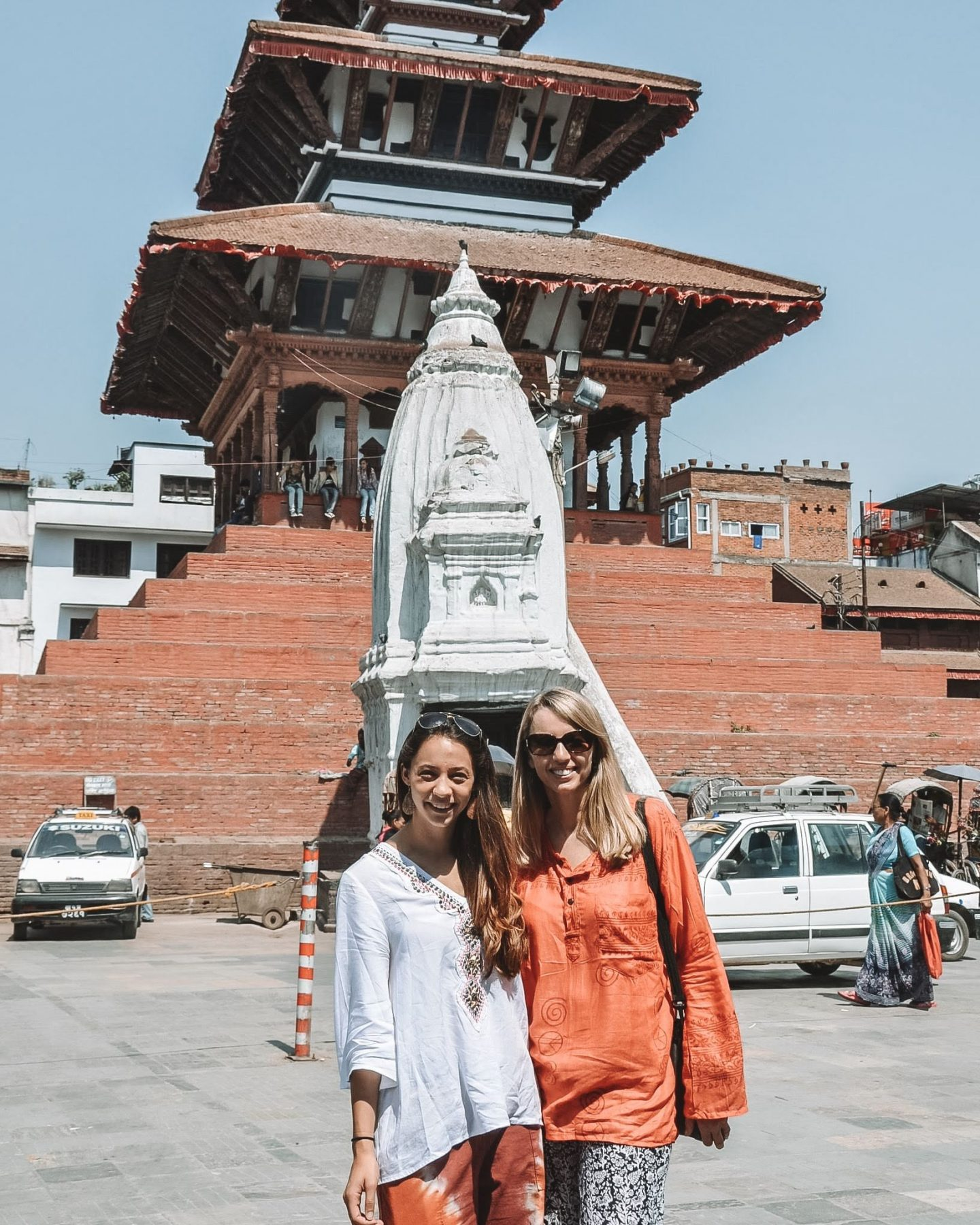 mother and daughter in kathmandu nepal