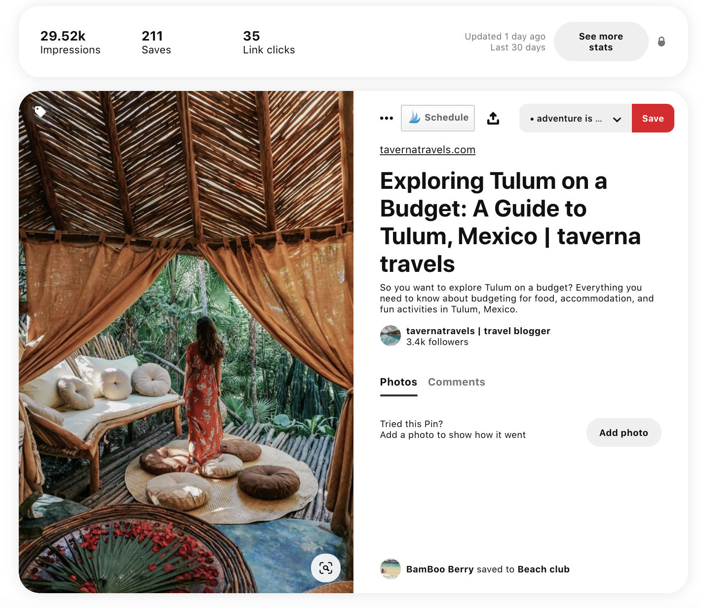 example stats on pinterest on how to use pinterest to grow your blog