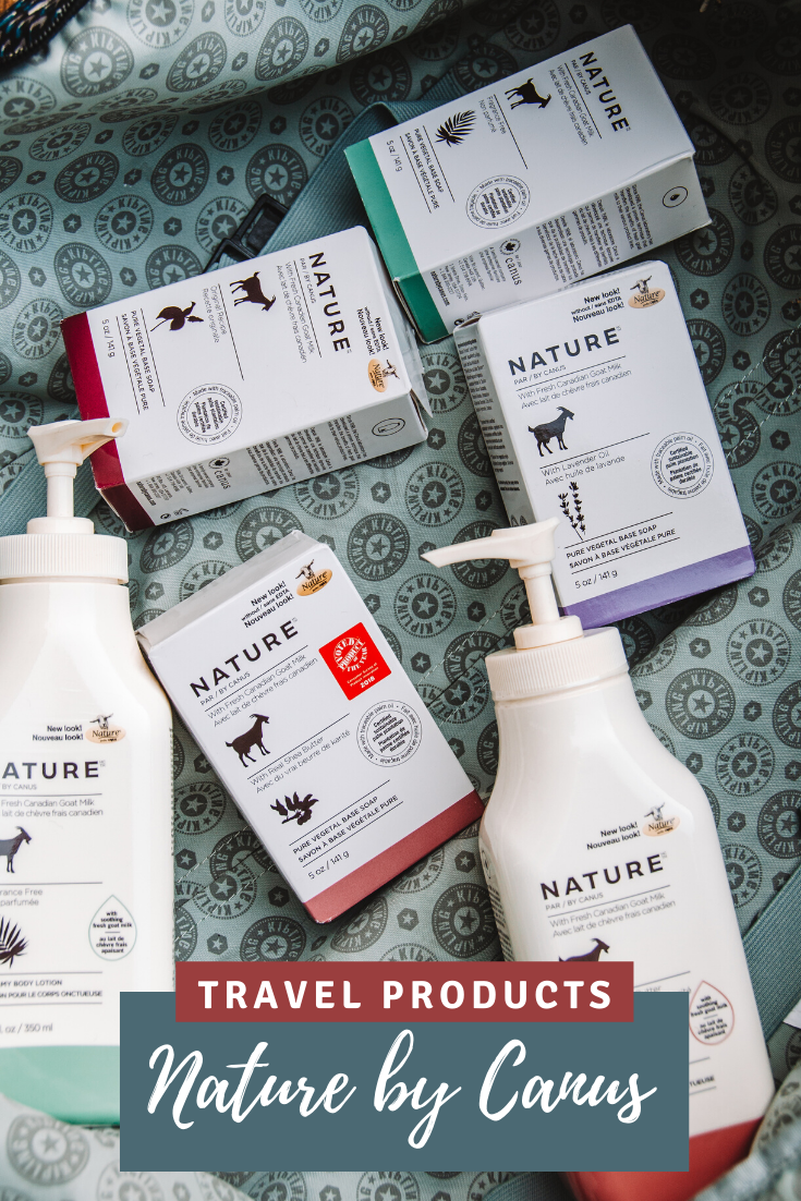 nature by canus soaps and lotions