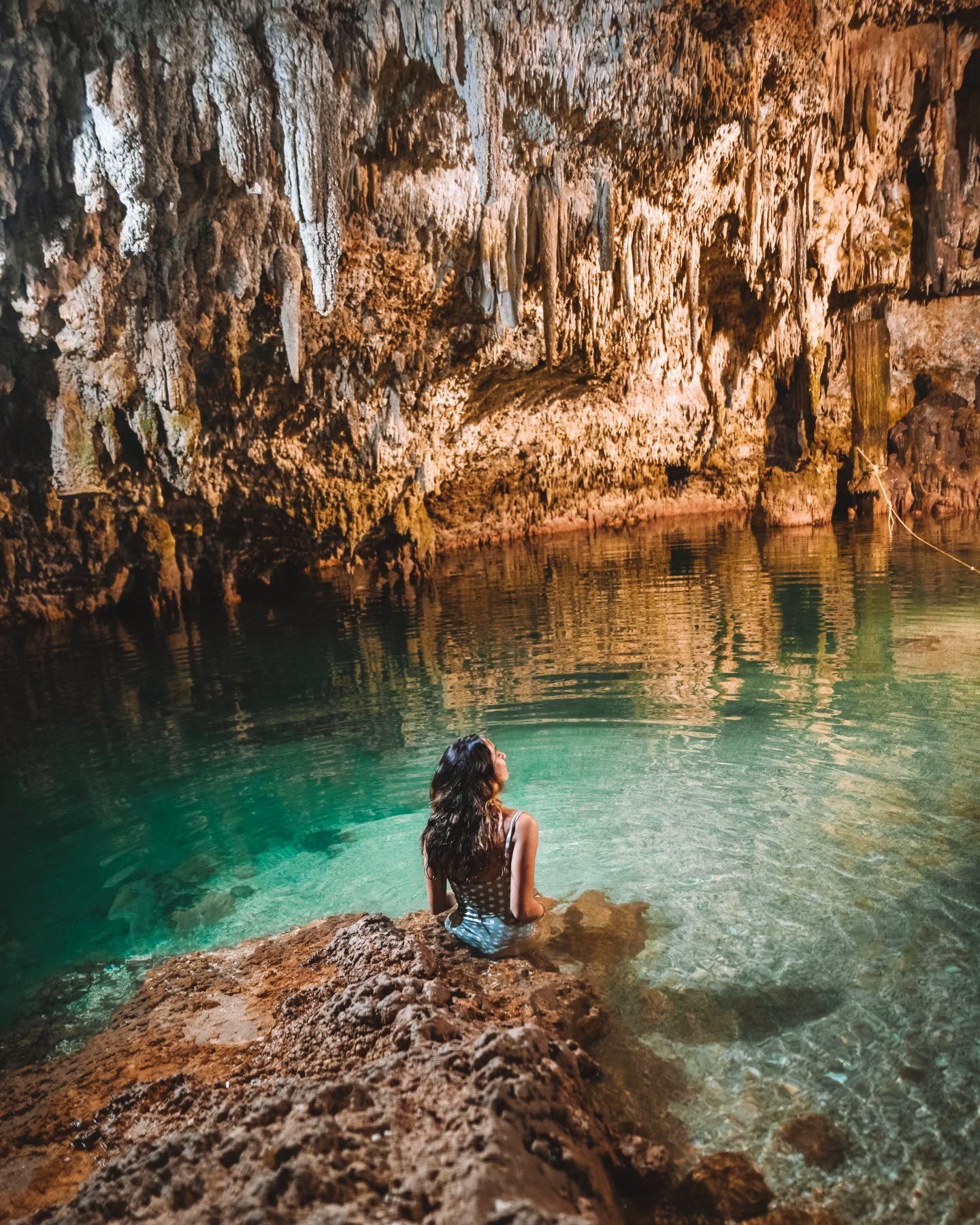 tulum is on the best destinations for solo female travelers - cenote choo ha
