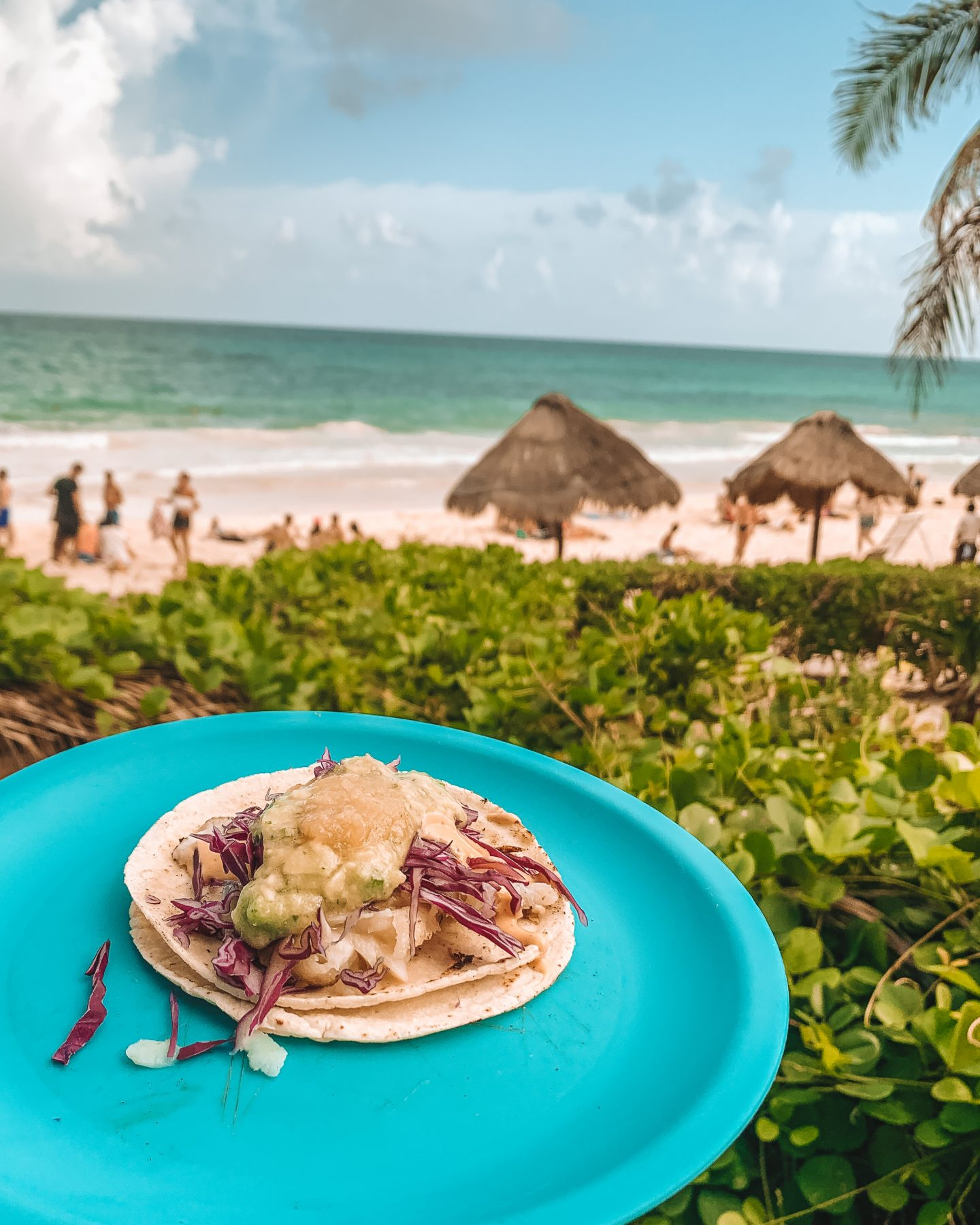 beachfront tacos in tulum