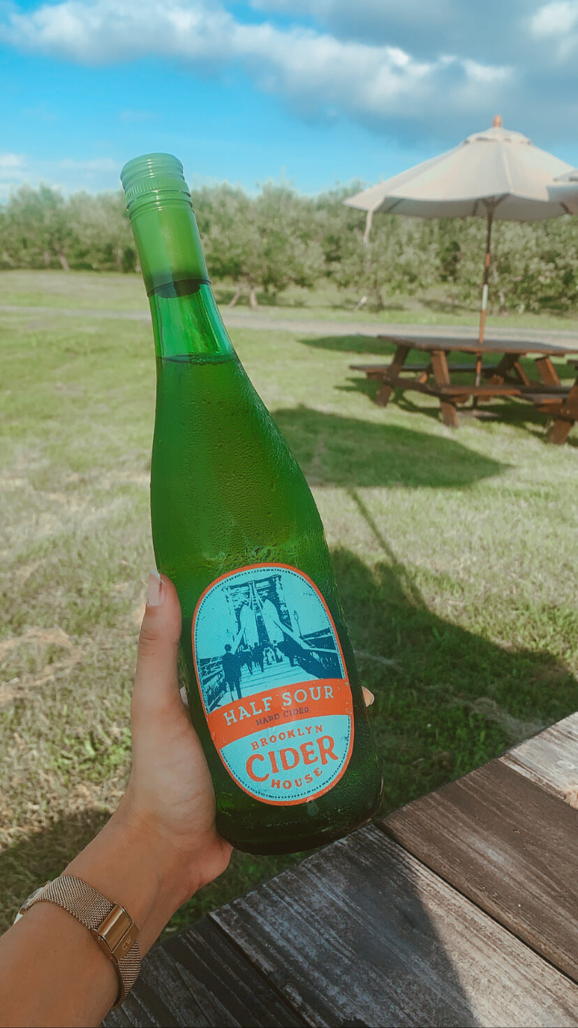 bottle of cider from Brooklyn Cider House in New Paltz, NY