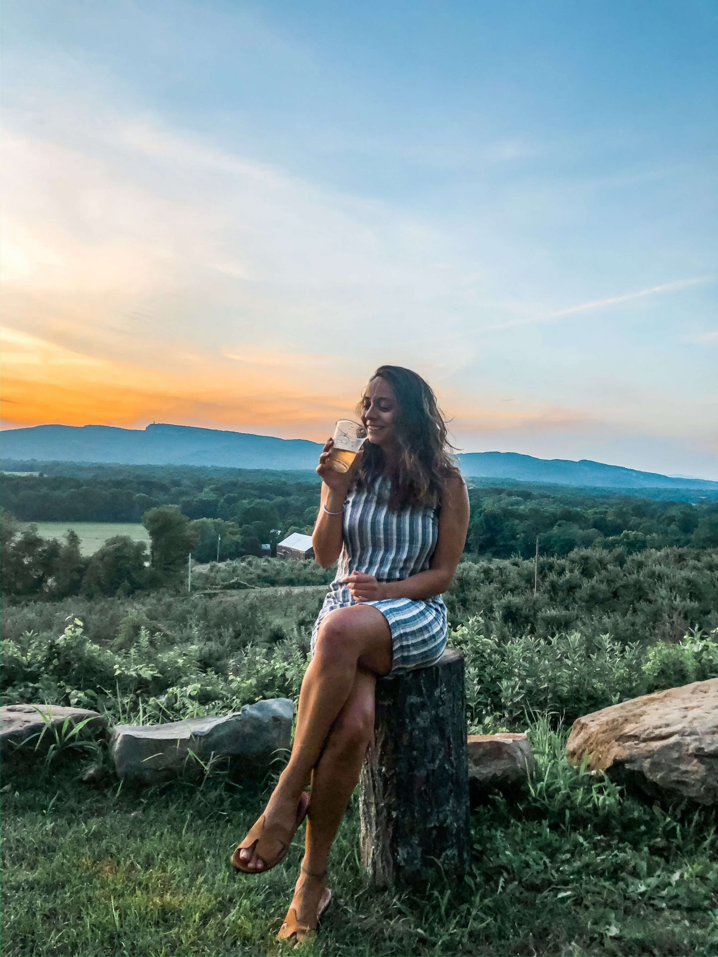 sunset at the cider house - best things to do in new paltz